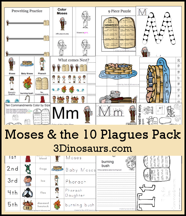 FREE Moses 10 Plagues Pack