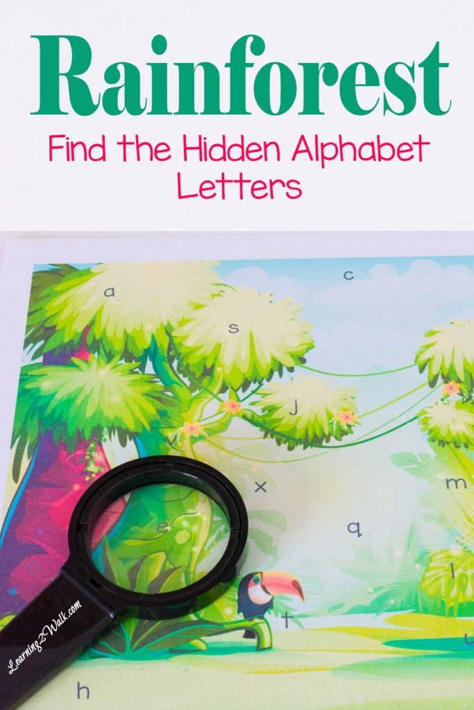 FREE Hidden letters Alphabet
