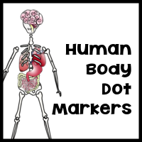 FREE Dot Marker Human Body Pages