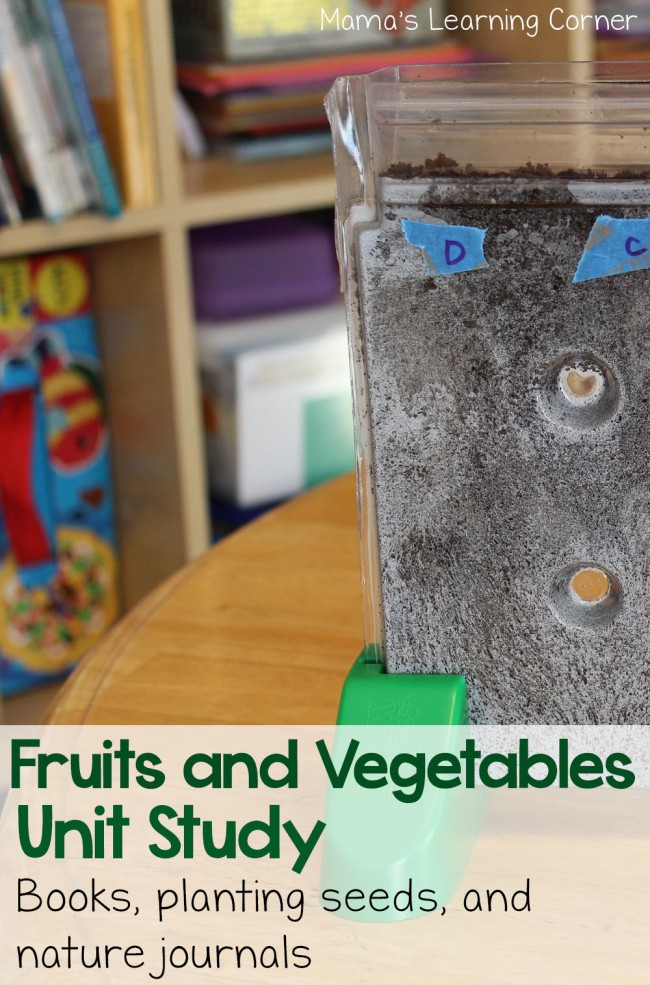 FREE Fruits and Vegetables Unit Study