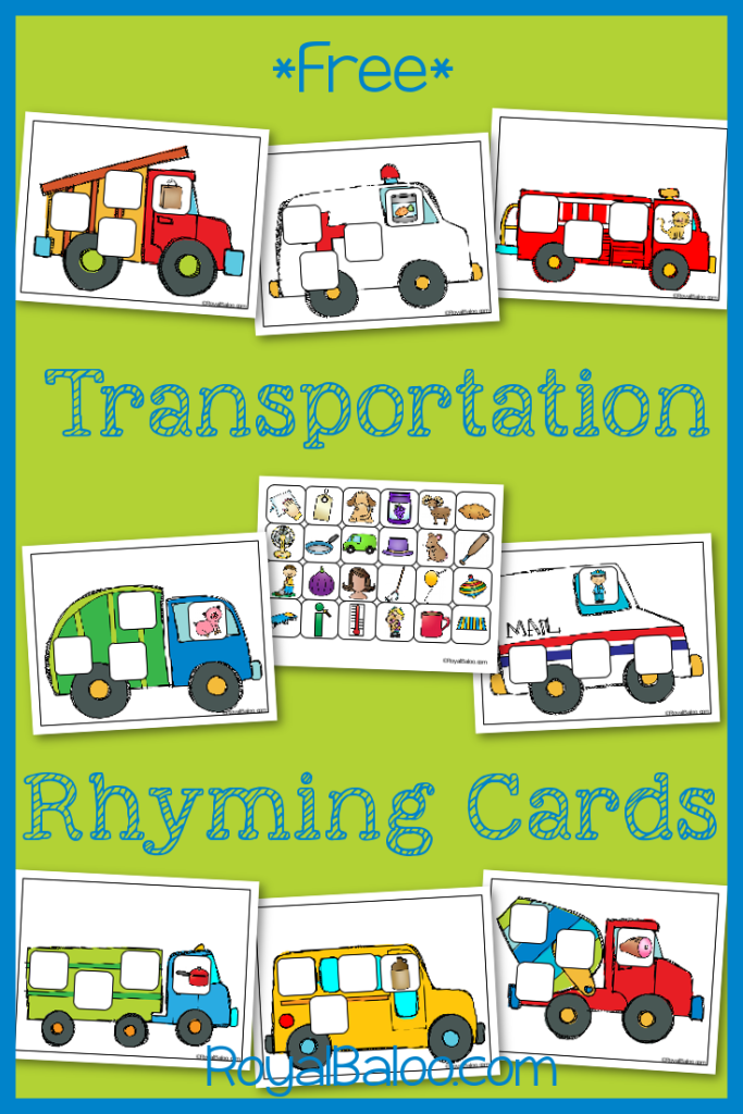 FREE Transportation Printables