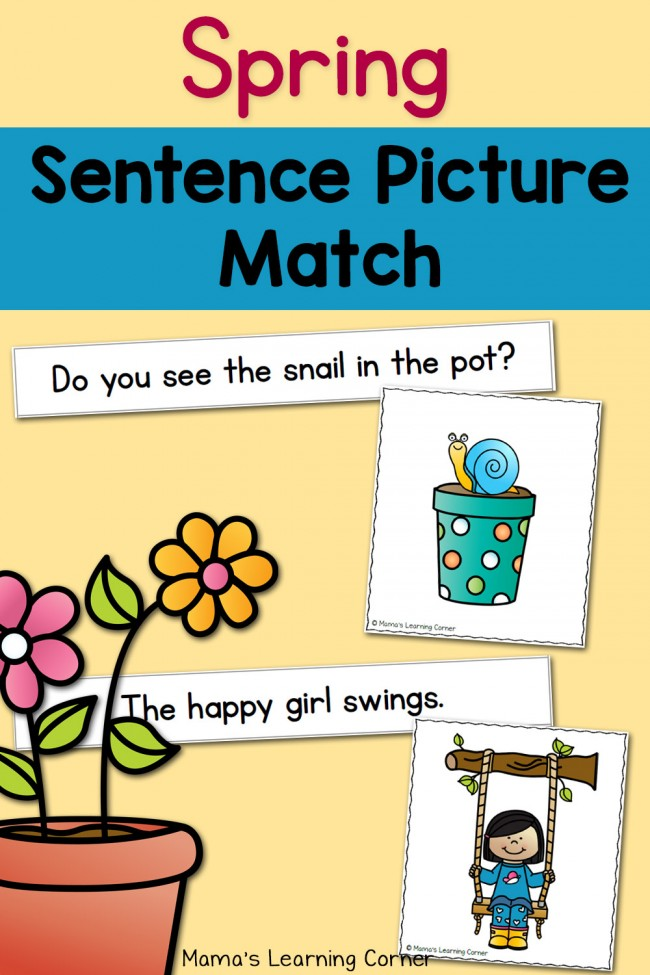 FREE Sentence Picture Match