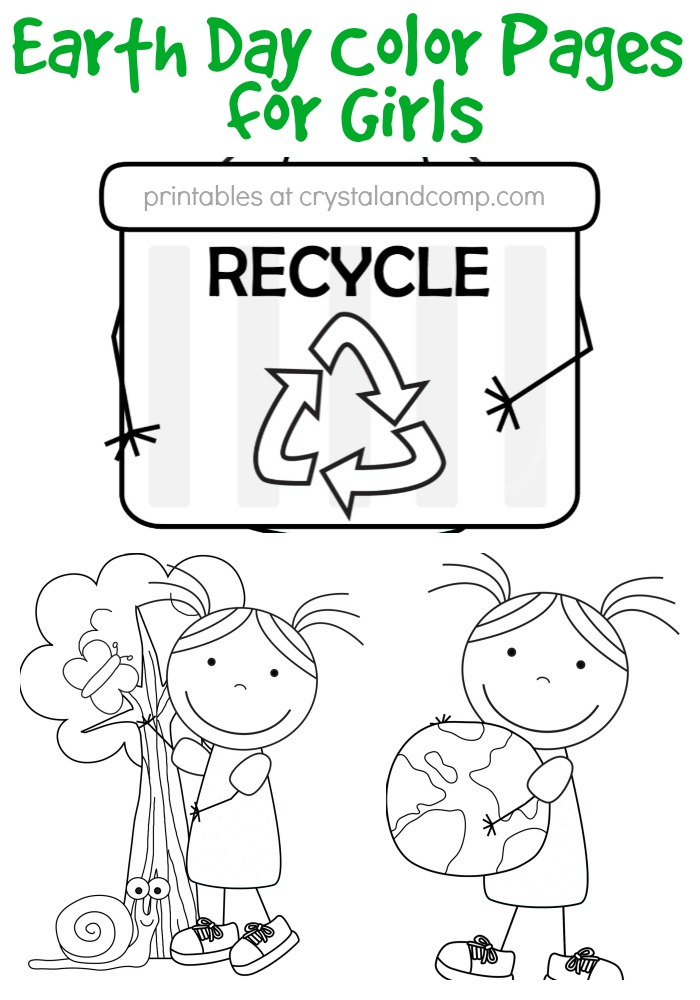 Free Earth Day Coloring Pages For Girls Printables