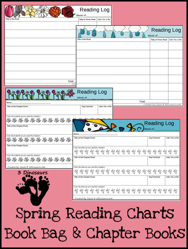 FREE Spring Reading Charts