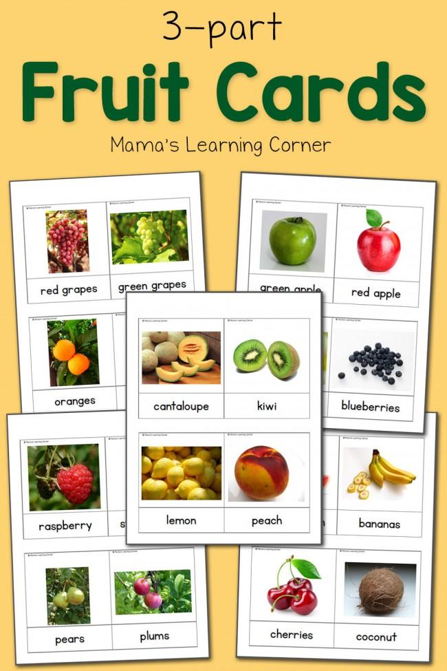 FREE Fruit Cards