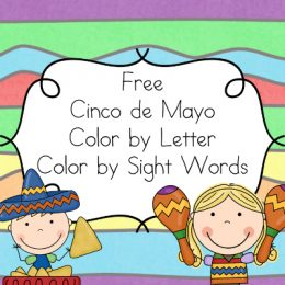 FREE Cinco de Mayo Color By Letter Sight Words