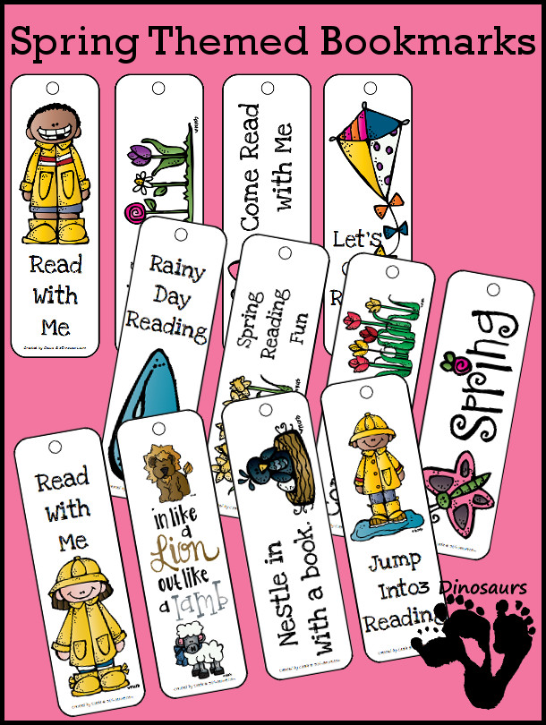 FREE Spring Themed Bookmarks