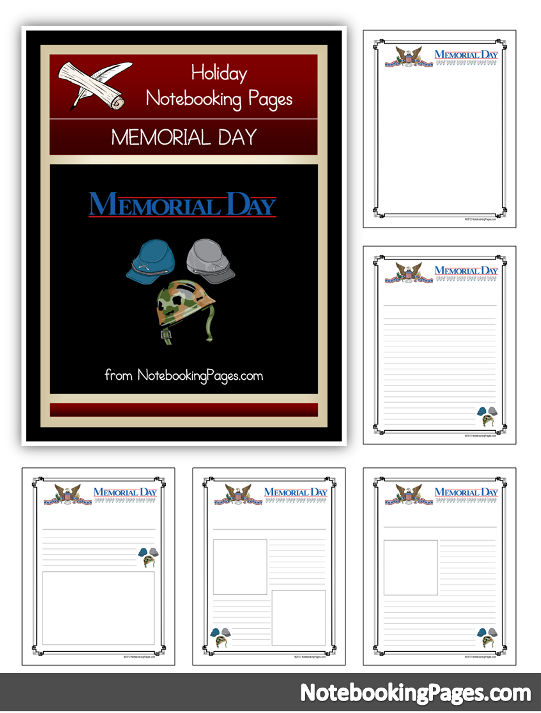 Free Memorial Day Notebooking Pages