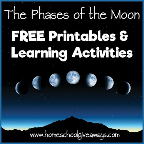 FREE Phases of the Moon Printables & Learning Activities