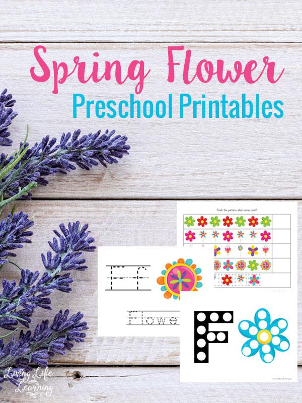 FREE Spring Flowers Preschool Printables