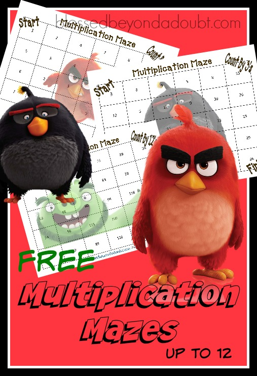 FREE Multiplication Math Printables