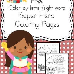 FREE Super Hero Sight Words Coloring Pack