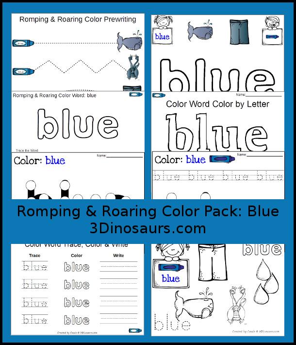 FREE Blue Printables Pack