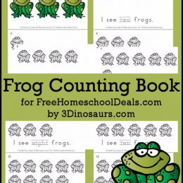 FREE FROG COUNTING BOOK (Instant Download!)