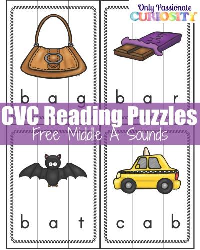 FREE CVC Reading Puzzles