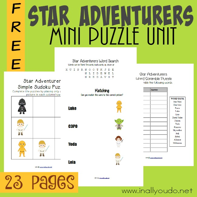 FREE Star Wars Puzzles Pack