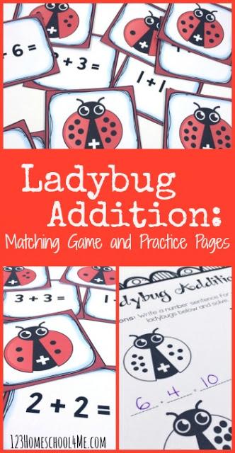 FREE Ladybug Math Games