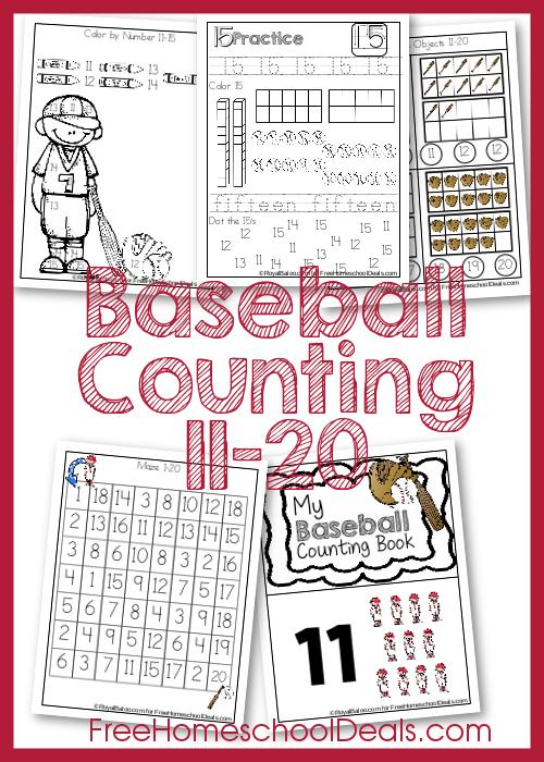FREE Baseball Counting Pack