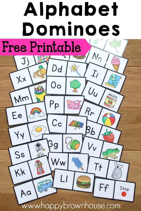 FREE Alphabet Dominoes
