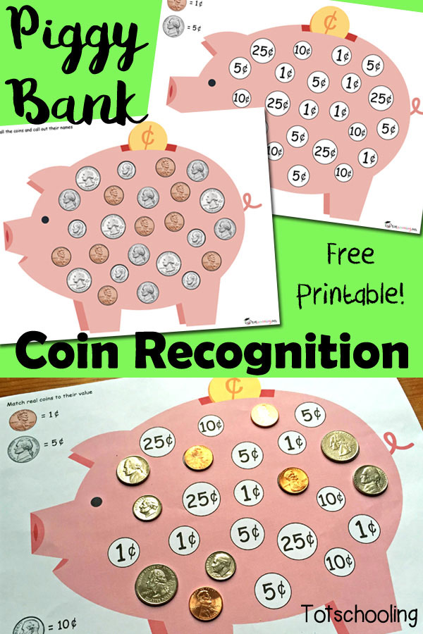 FREE Coin Recognition Praintables