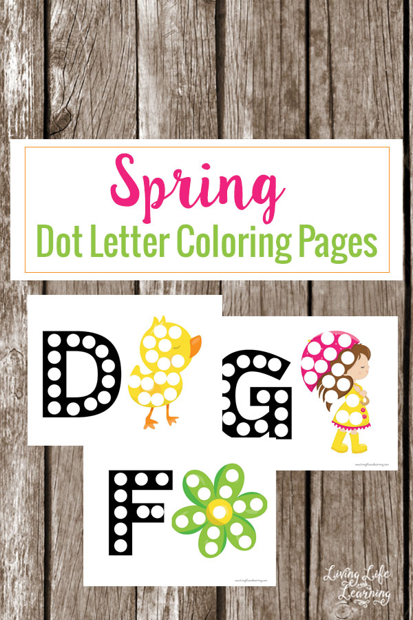 FREE Dot Letter Coloring Pages