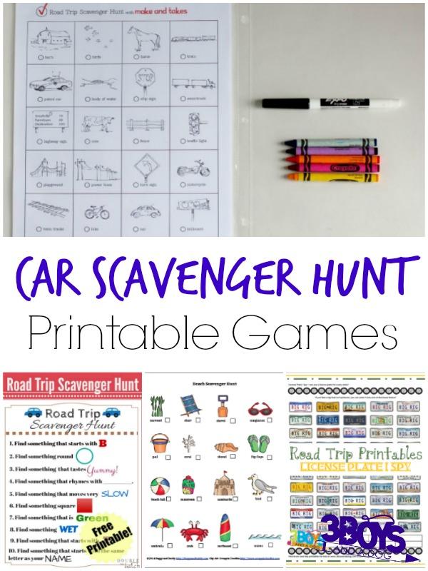 FREE Car Scavenger Hunt