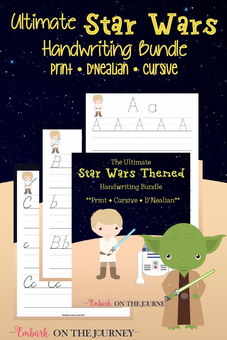 FREE Star Wars Handwriting Bundle