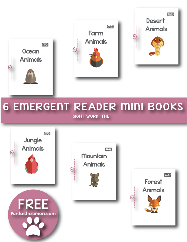 FREE Animal Emergent Readers MiniBooks