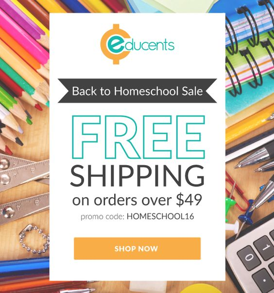 Summer Homeschool Sale at Educents + Free Shipping On Orders $49+