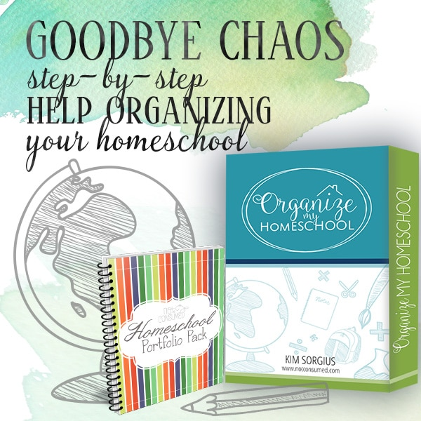 NEW Organize My Homeschool Course Only $47 + Free Portfolio Pack!