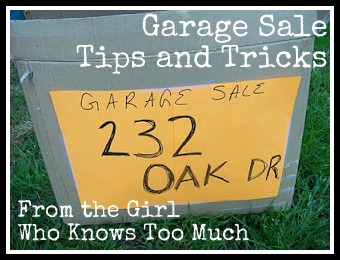 Garage Sale Advice