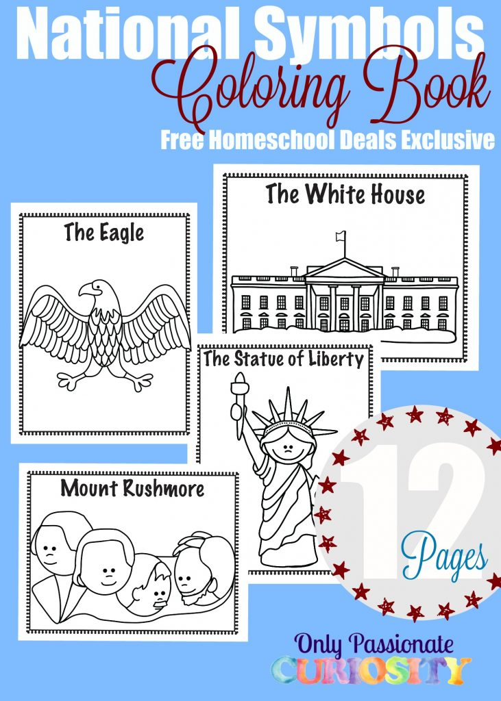 National Symbols Coloring Book