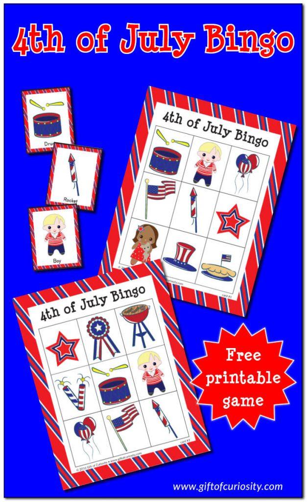 FREE 4th of July Bingo