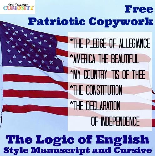FREE Patriotic Copywork