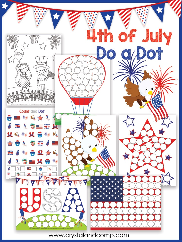 FREE 4th of July Dot a Dot Pack