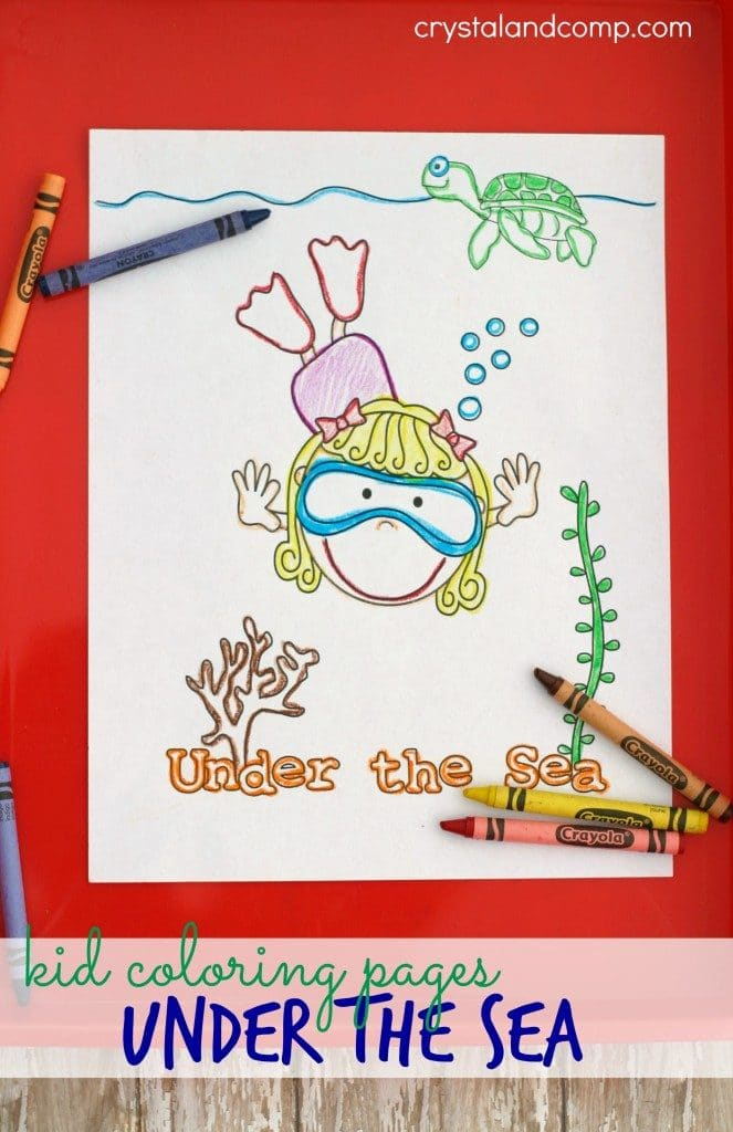 FREE Under the Sea Coloring Pack