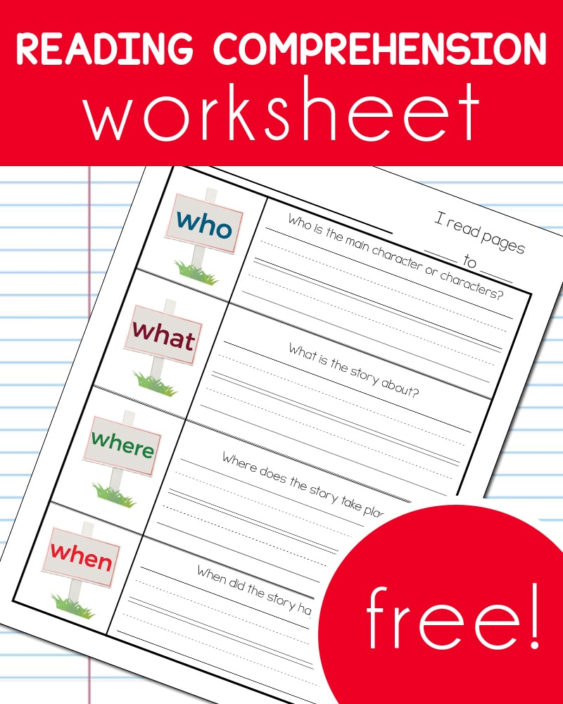 FREE Reading Comprehension Worksheet | Free Homeschool Deals