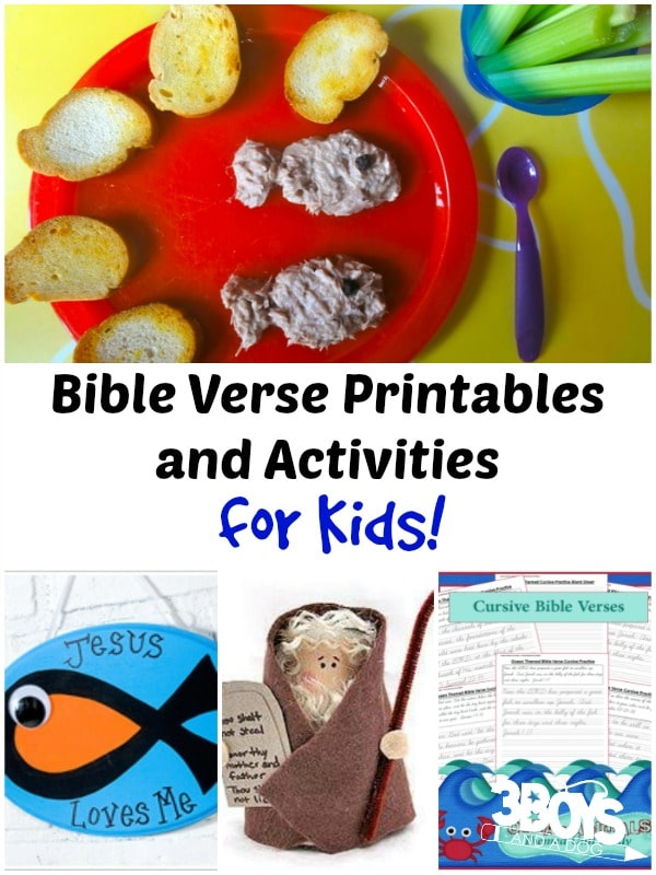 FREE Bible Verse Printables and Activites