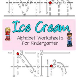 FREE Ice Cream Alphabet Worksheets