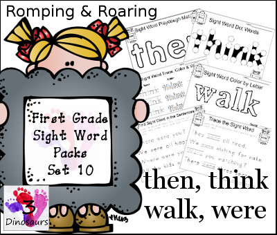 FREE Sight Word Pack 10