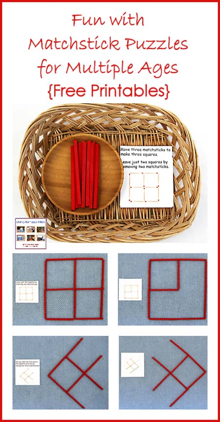 FREE Matchstick Puzzle Printables