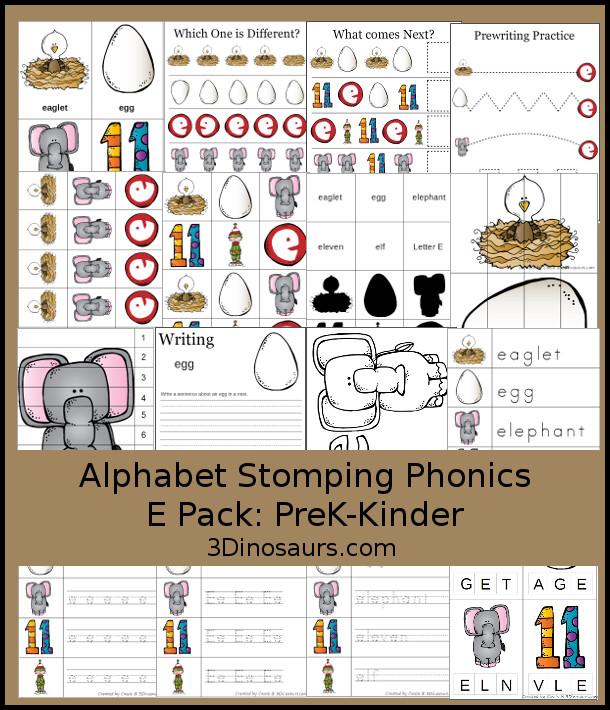 FREE Letter E Phonics Pack