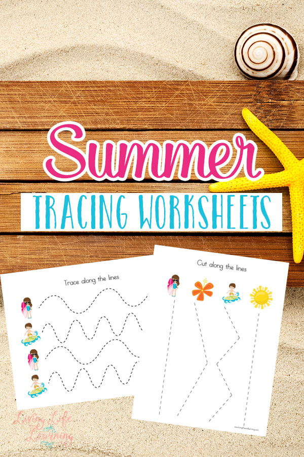 FREE Summer Tracing Worksheets