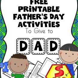 FREE Father's Day Worksheets