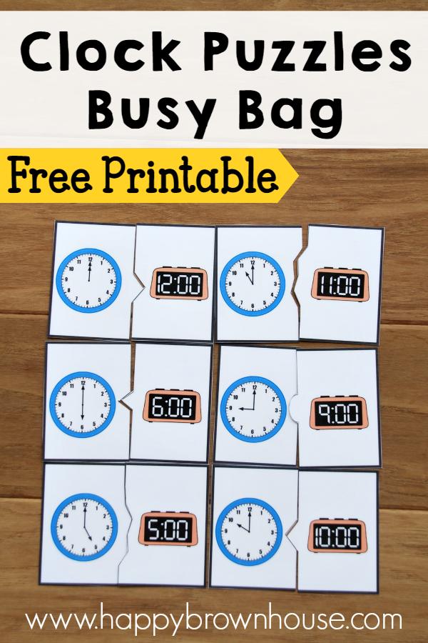 FREE Clocks Busy Bags