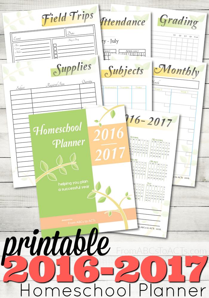 FREE 2016 Homeschool Planner