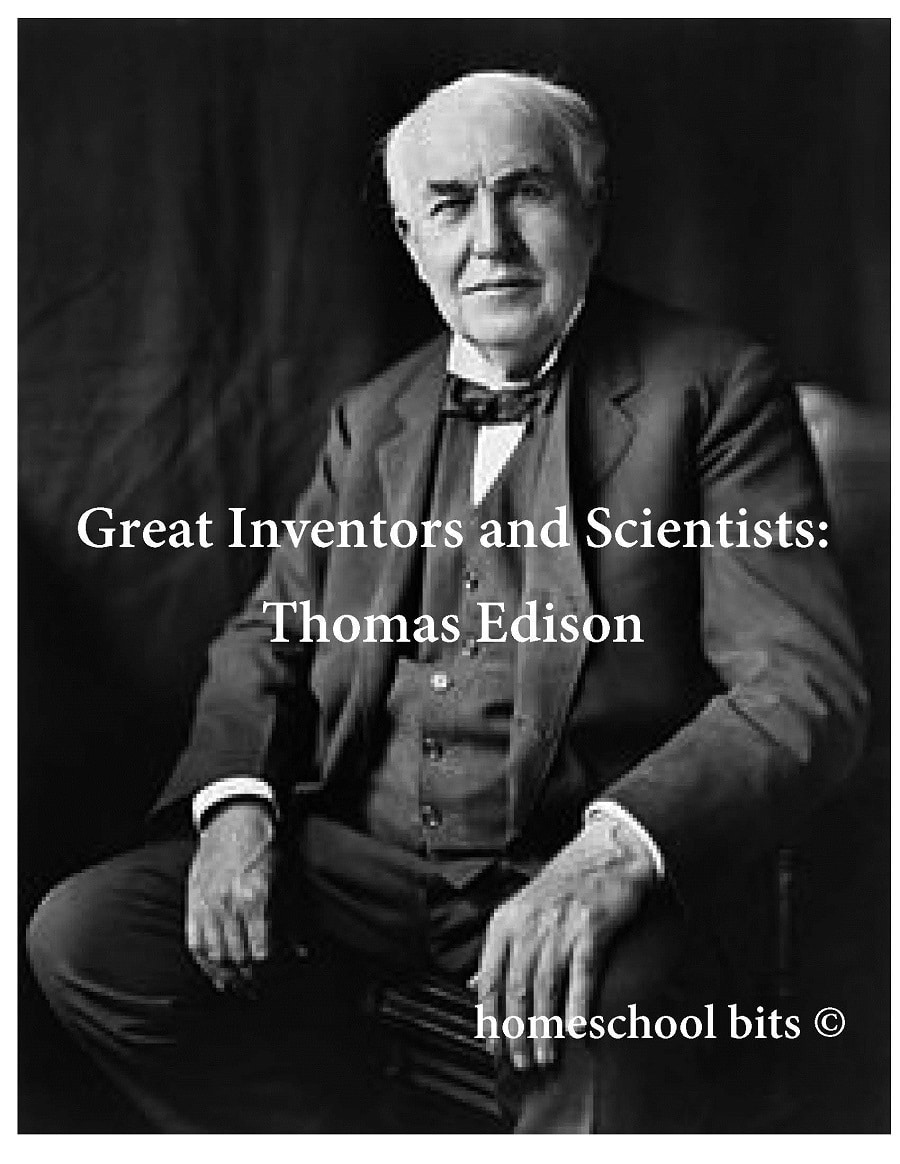 Free Thomas Edison Learning Pack (28 Pages!)