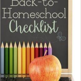 Free Back to Homeschool Checklist