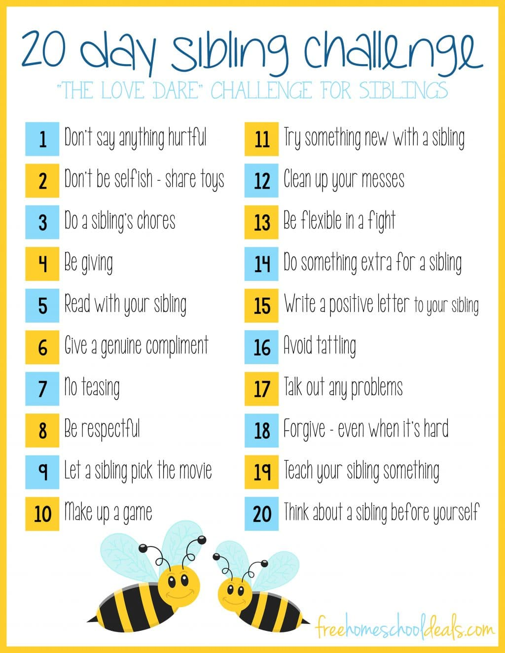 20 Day Sibling Challenge