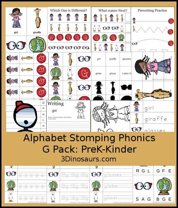 FREE Kindergarten G Pack
